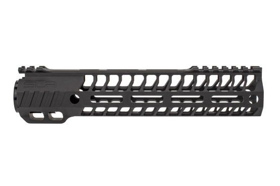 "SLR Rifleworks 9.7"" HELIX AR-15 handguard with full length top rail features M-LOK on four sides and a black finish"