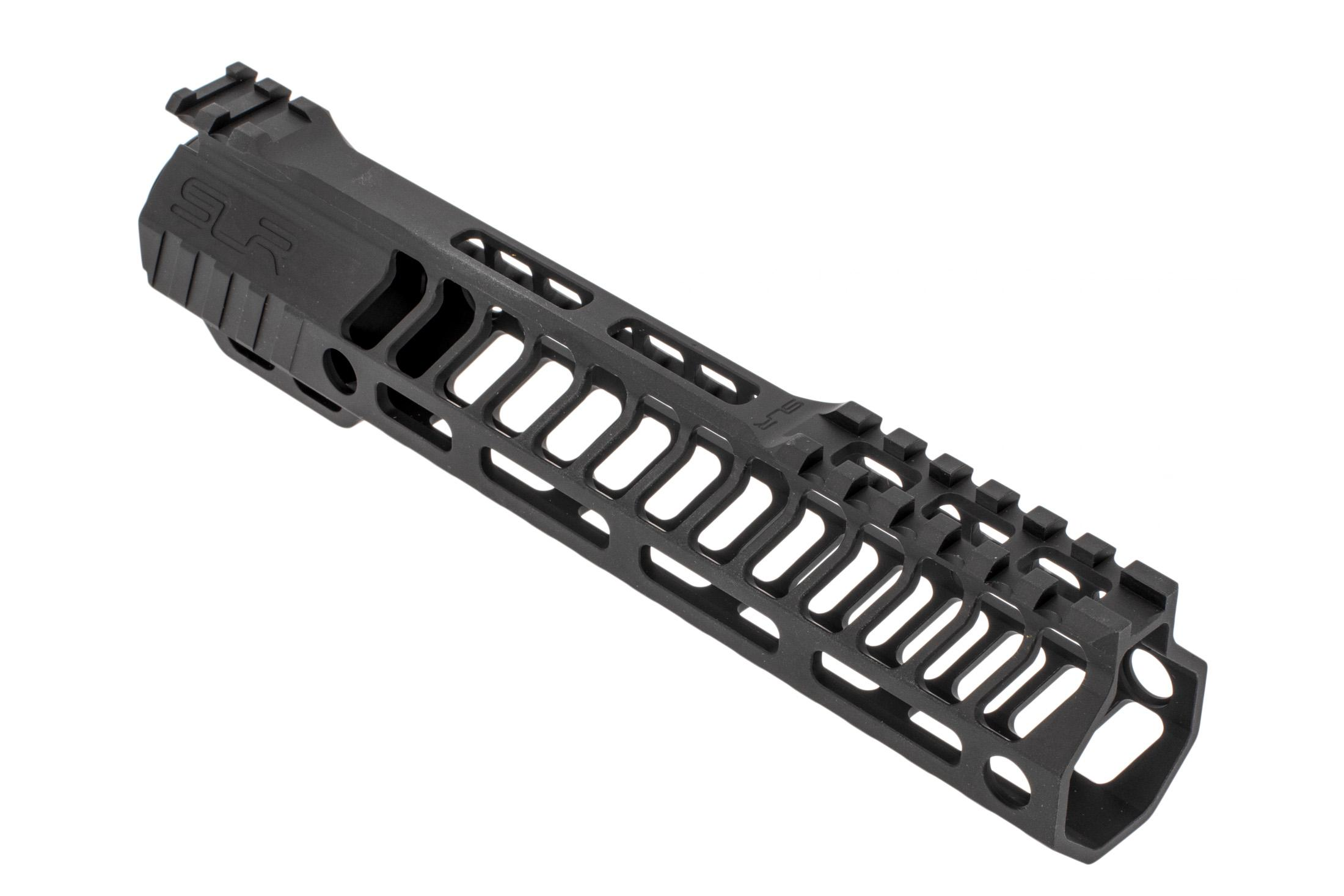 SLR Rifleworks HELIX series 9.0 M-LOK rail for the AR-15 with interrupted top rail with black anodized finish.
