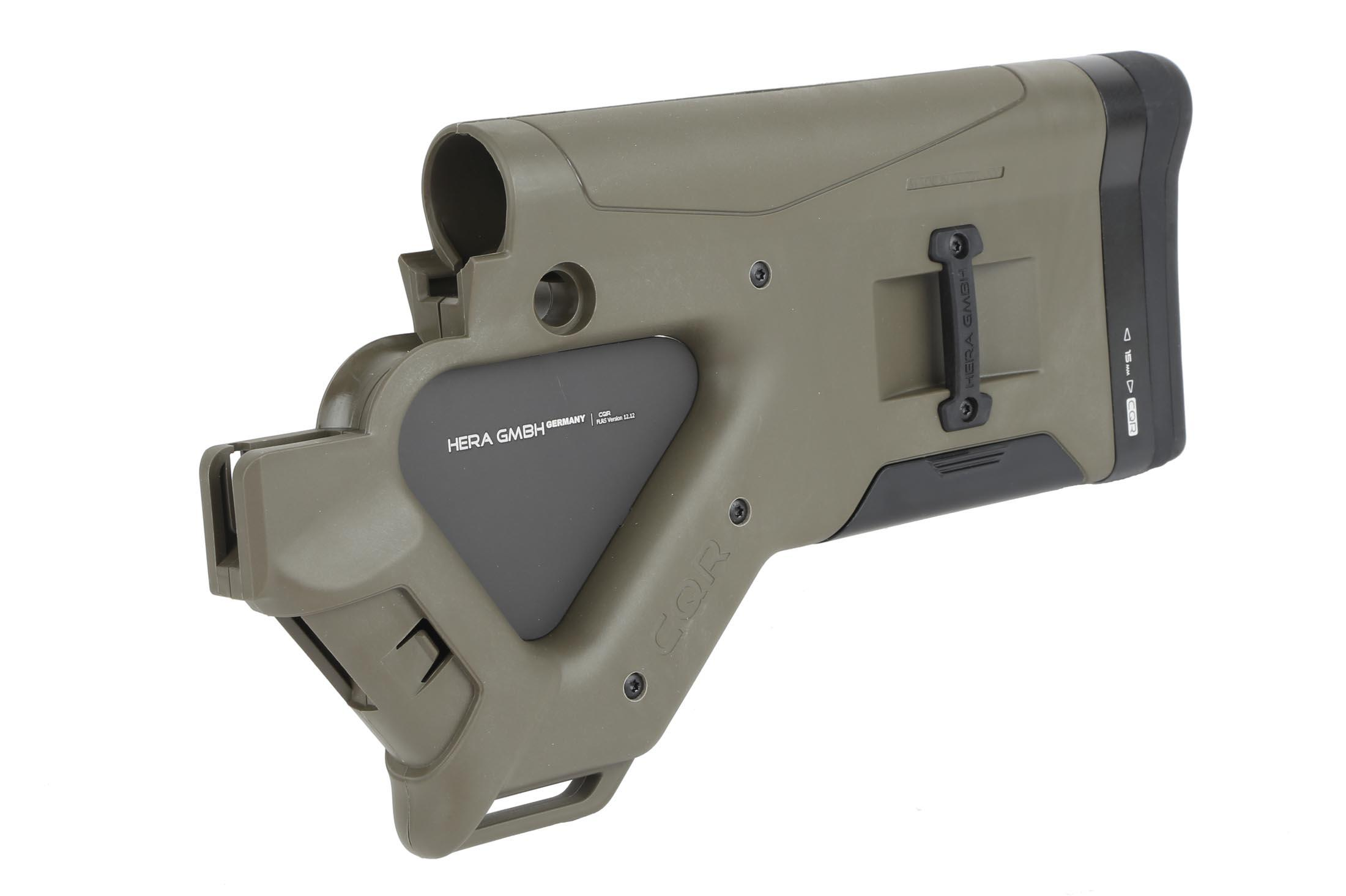 Hera Arms CQR Featureless Buttstock - Olive Drab Green