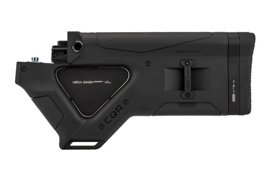 The Hera Arms CQR AK47 featureless stock is compatible with stamped receivers
