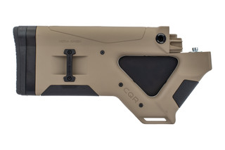 The Hera Arms CQR AK47 featureless buttstock is made from a durable tan polymer