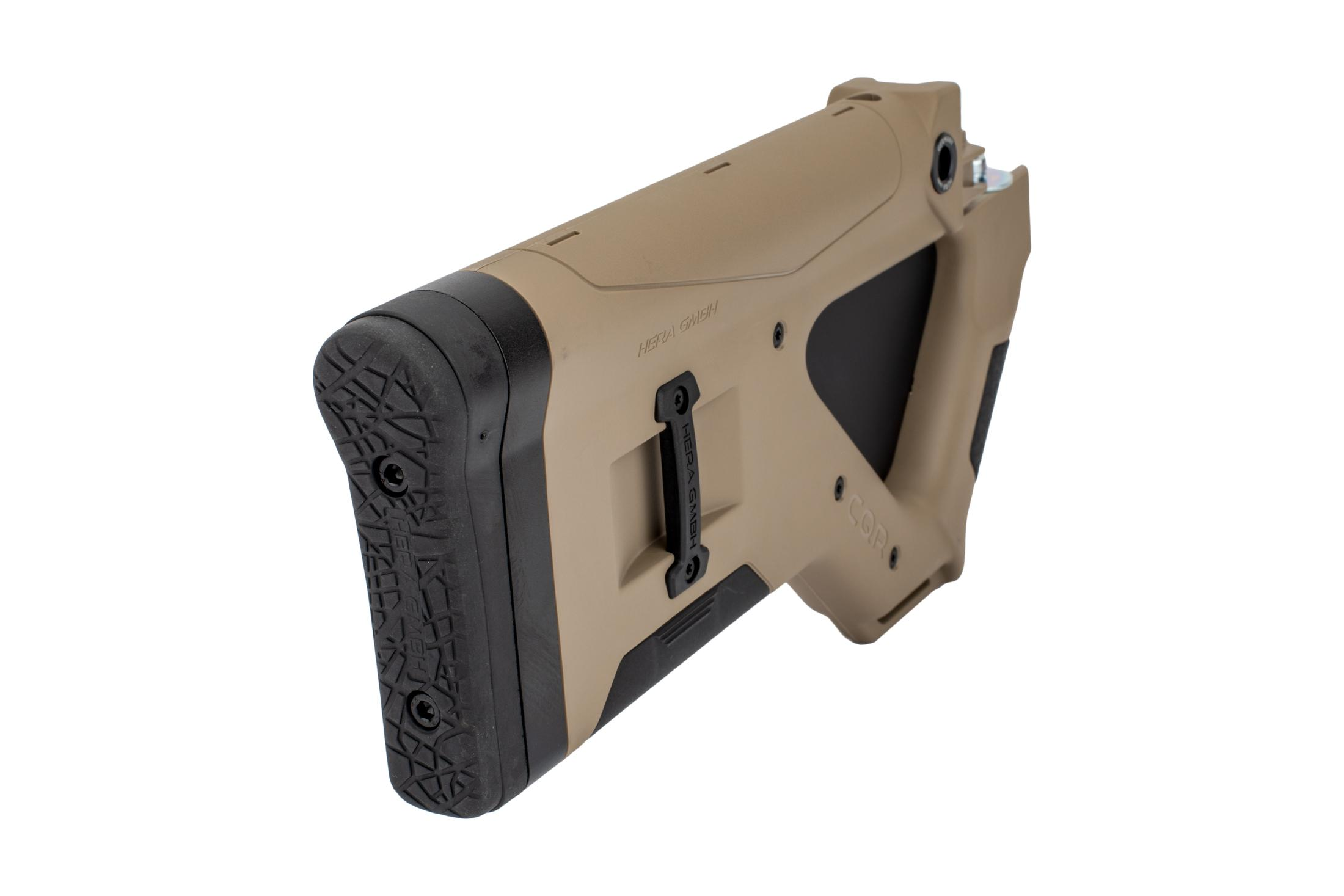The Hera Arms cqr featureless stock california version is designed for stamped AK receivers