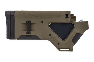 The Hera Arms CQR featureless stock for ak-47 is made out of an OD Green polymer
