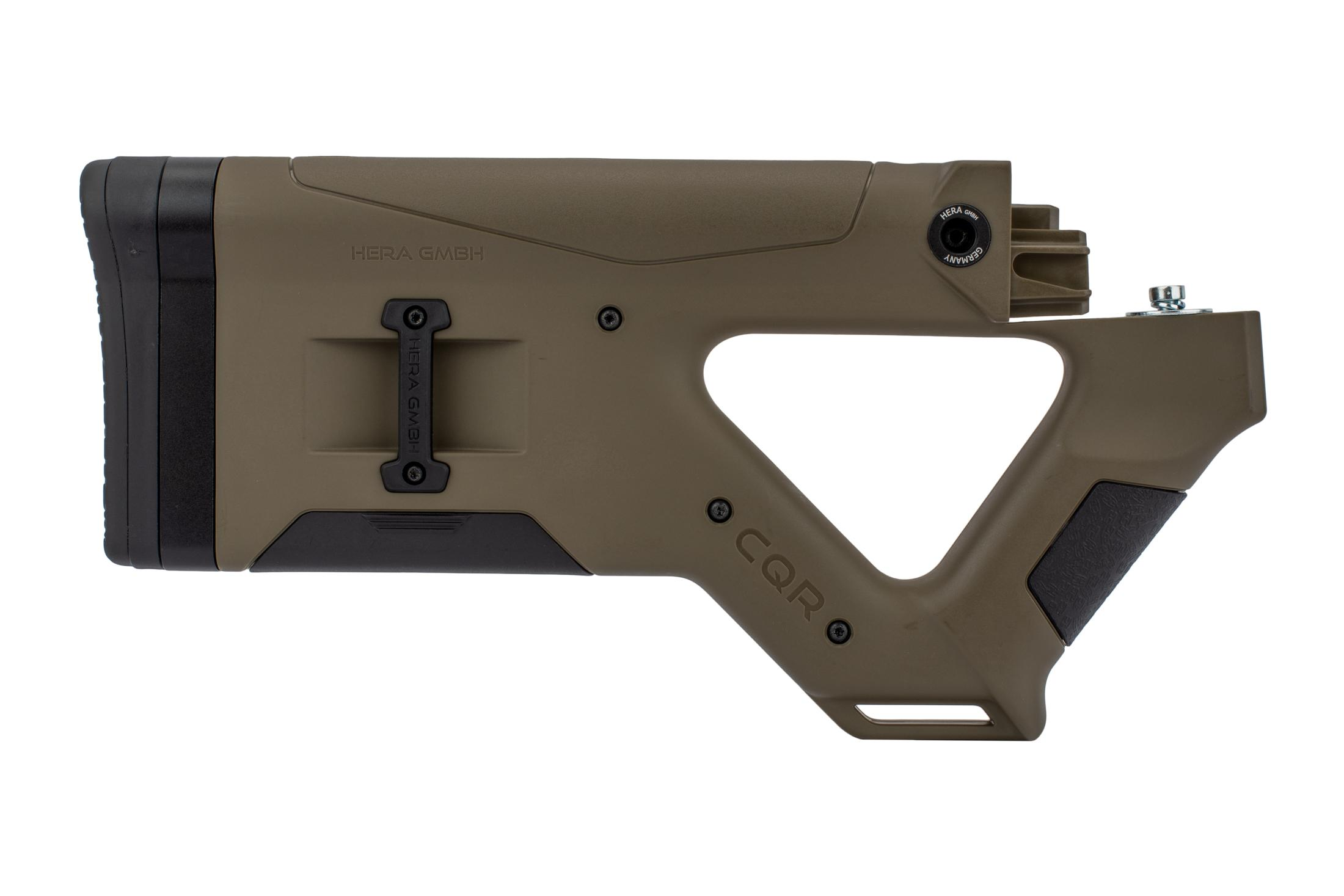 The Hera Arms AK47 CQR stock is made from a durable Tan polymer