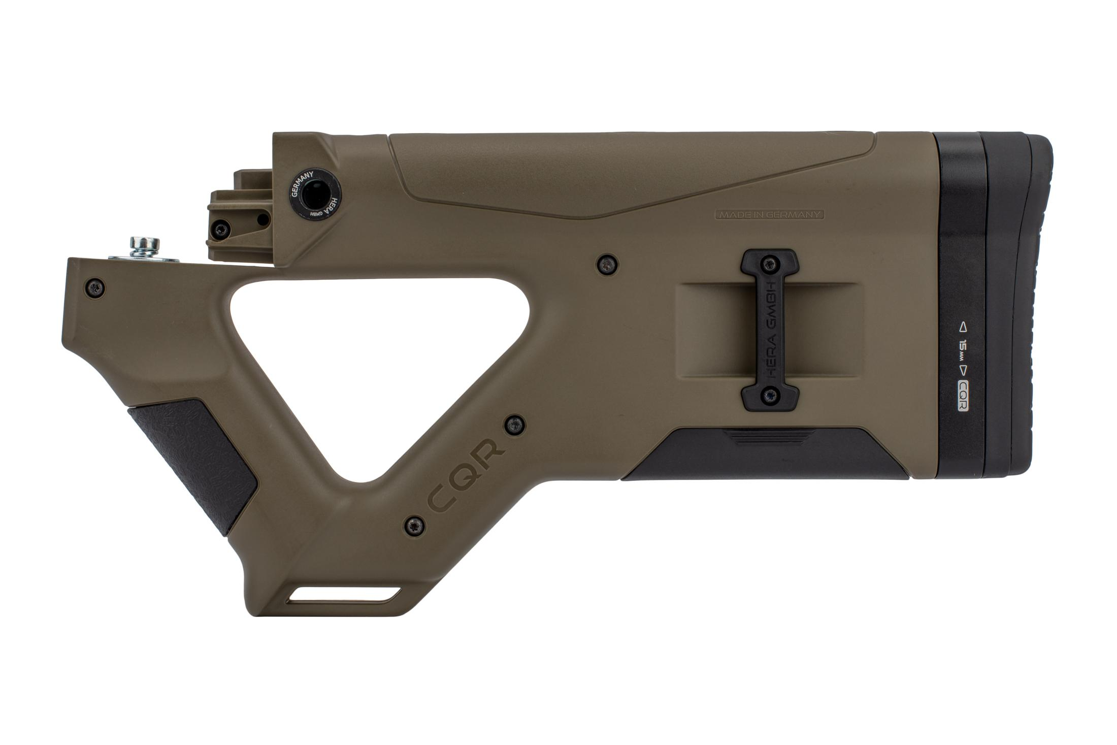 The Hera Arms CQR AK47 stock features a compact design with multiple features