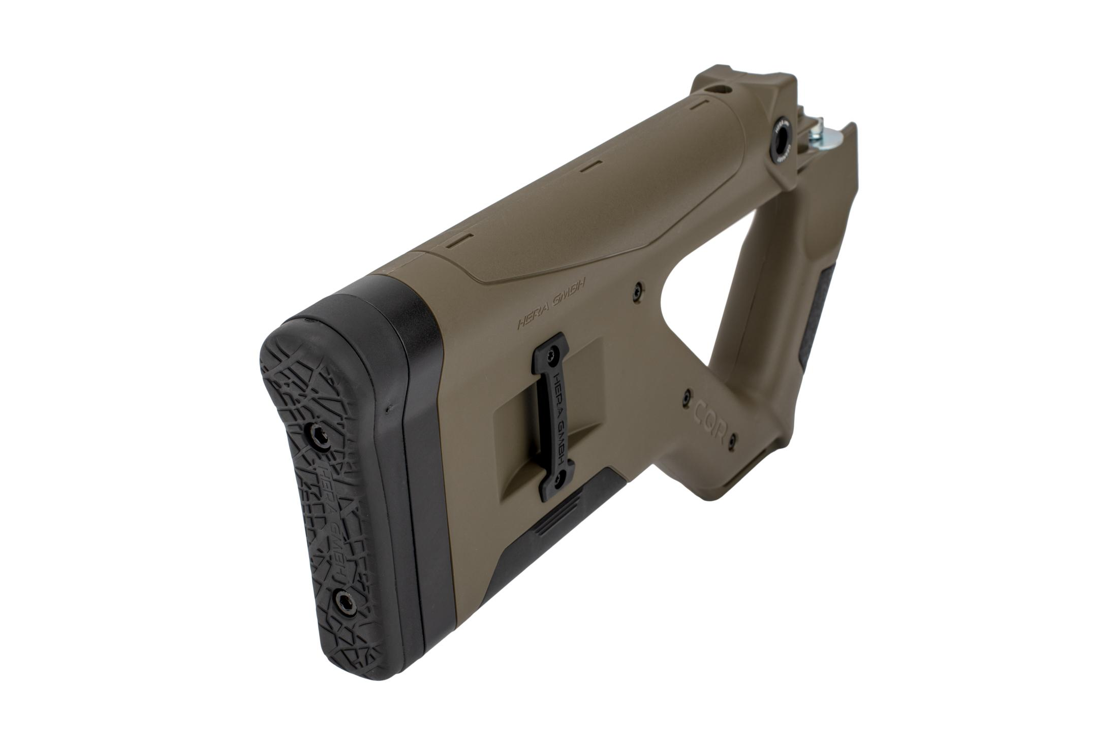The Hera Arms CQR AK buttstock has spacers for adjusting the length of pull