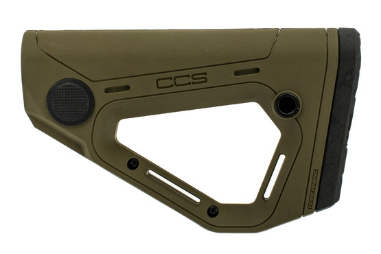 Hera Arms CCS carbine stock features an olive drab green finish