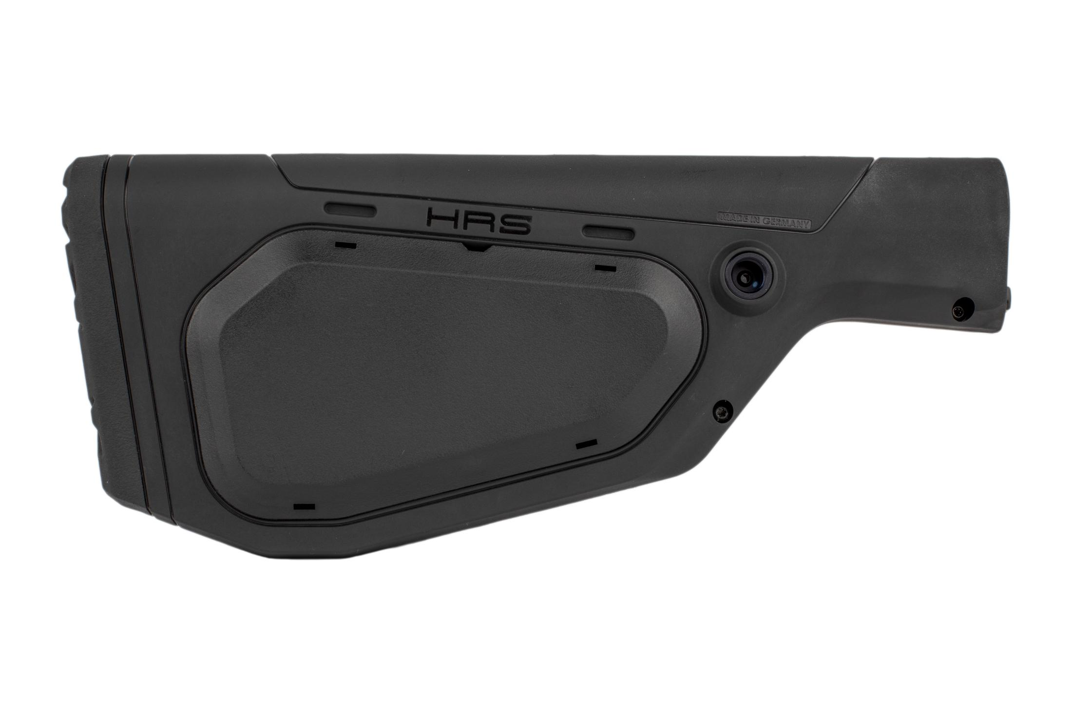 The Hera Arms HRS fixed rifle stock is made from impact resistant black polymer