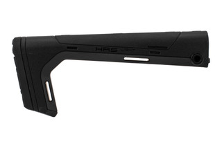 Hera Arms HRS Light Fixed A2 rifle stock in black features a lightweight minimalist design