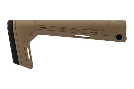 Hera Arms HRS Light fixed AR15 stock is made from reinforced polymer in tan color