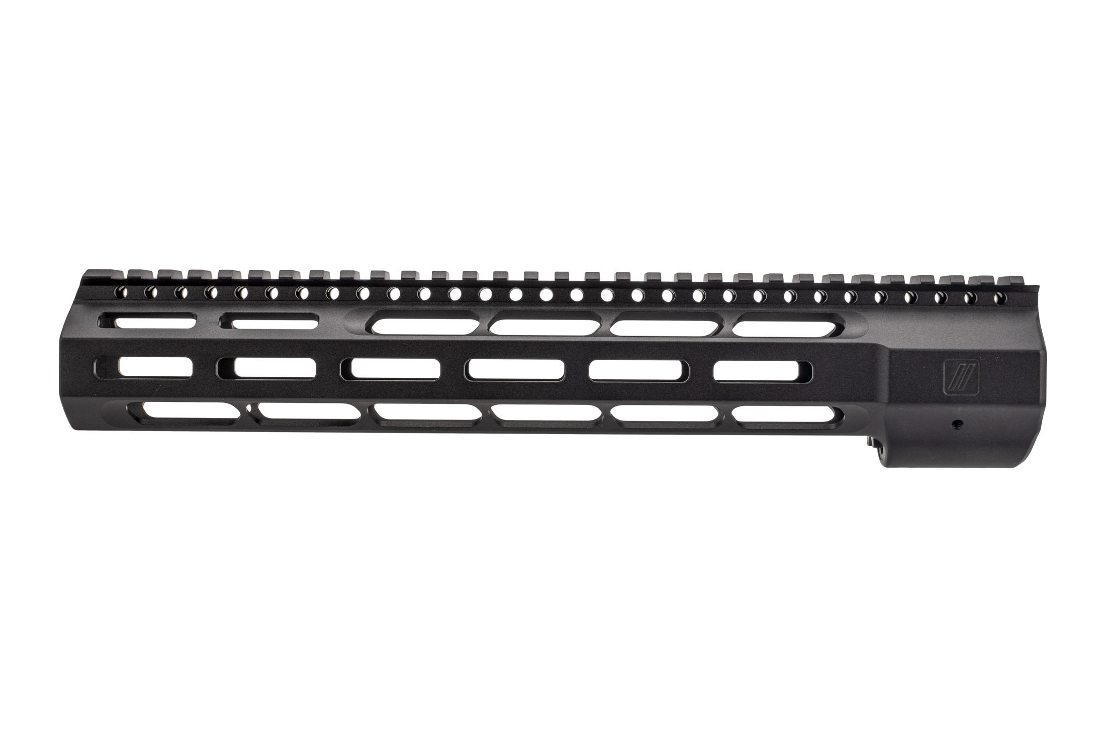 Zev Tech Wedge Lock AR10 handguard features a hardcoat anodized black finish