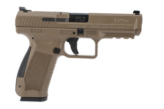 9mm TP9SF Pistol from Canik has a 4.46 inch barrel