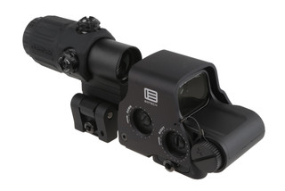 The EOTech EXPS2-2 HWS with G33 Magnifier features a 68 MOA ring with 1 MOA red dots