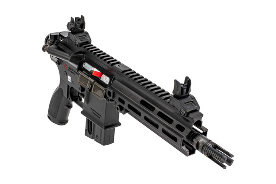 H&K 416P .22 LR pistol in black includes lightweight M-LOK handguard and 4-prong flash hider
