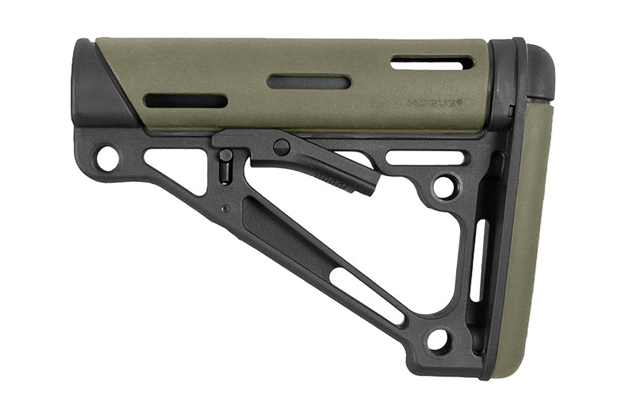 Hogue OverMolded Collapsible Buttstock MIL-SPEC - Olive Drab Green