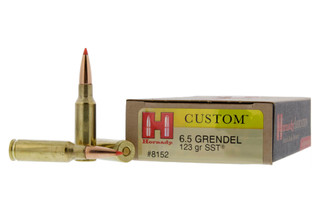 The Hornady Gold Line of 6.5 Grendel features a 123 grain SST projectile designed for hunting