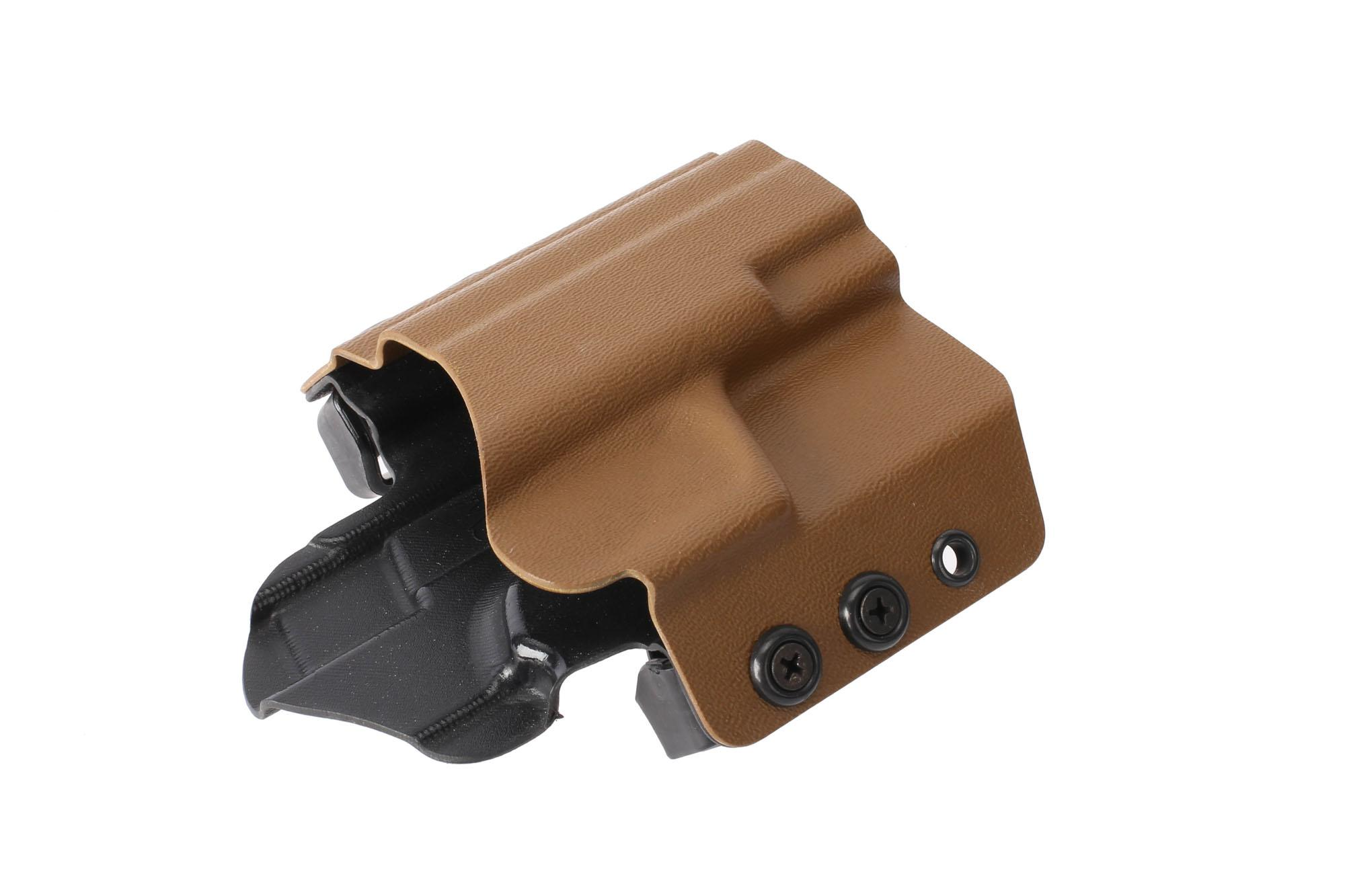 High Speed Gear's coyote brown OWB holster fits SIG Sauer P320 Compact pistols