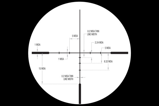 Trijicon Huron hunting scope features MOA adjustments