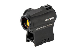 Holosun HS503R microdot with 100,000 hour battery life, multiple reticle system, and rotary rheostat knob.