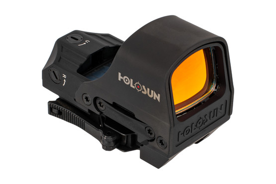 Holosun HS10C full size reflex sight with integrated QD mount for fast and easy installation or removal
