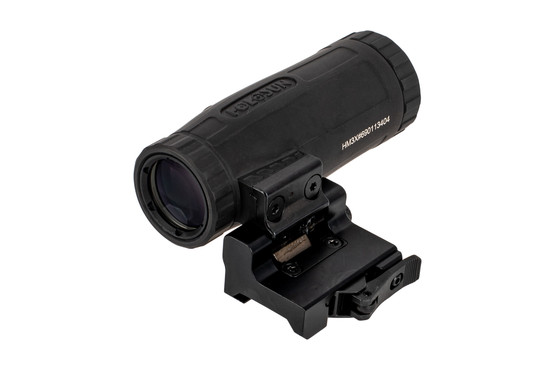 Holosun HM3X magnifier features an integrated flip-to-side mount for fast switching from CQB to ranged targets