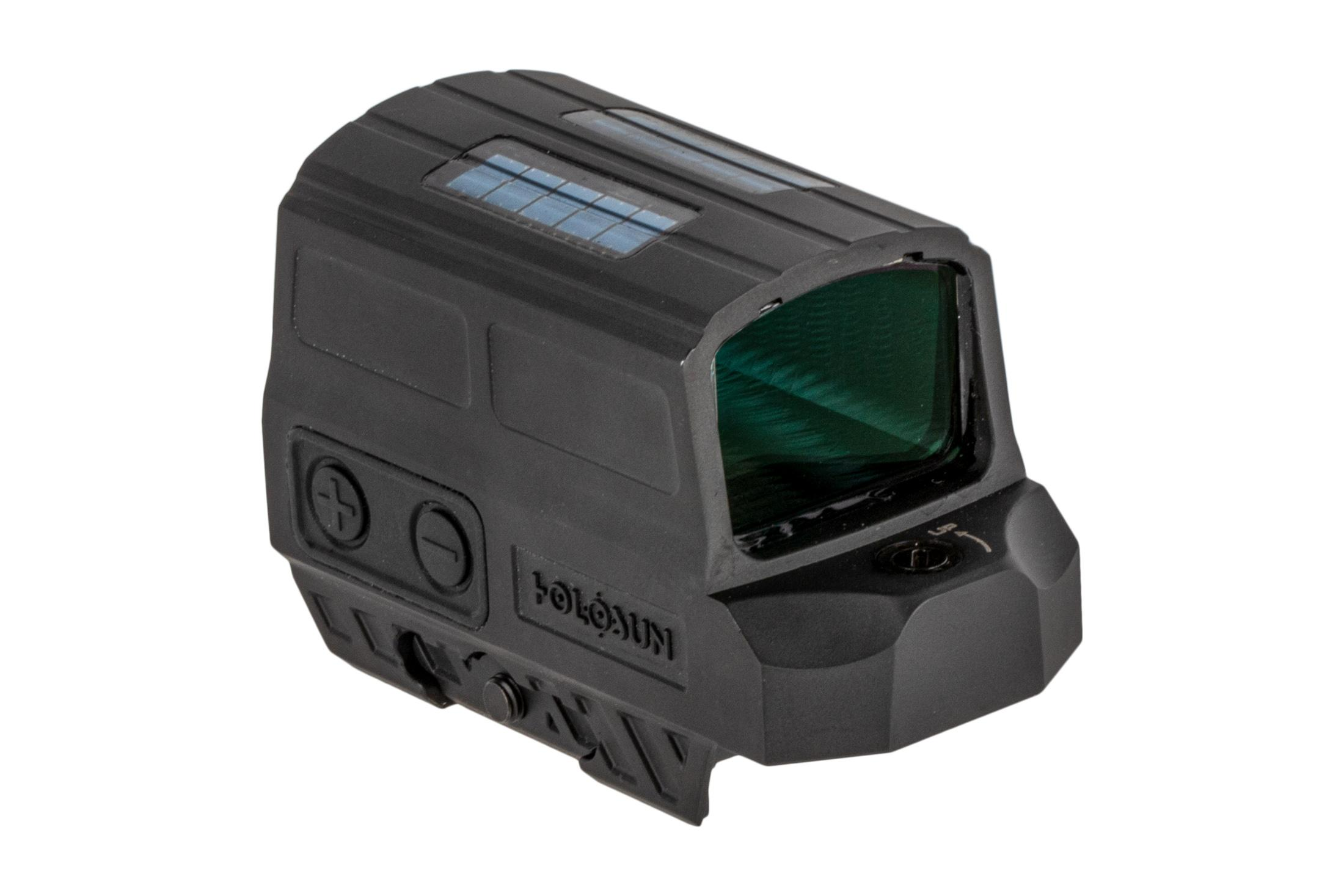 The Holosun HS512C Enclosed red dot sight features a solar failsafe function to prolong battery life