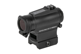 Holosun HE515CM Elite is a compact 2 MOA solar powered red dot sight with 65 MOA circle dot reticle