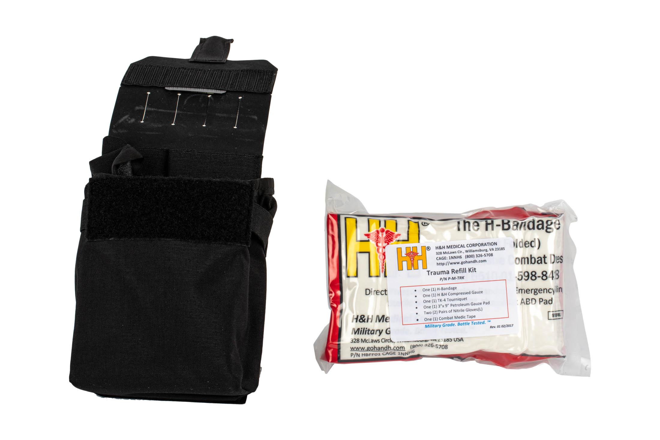 The Blue Force Gear Trauma Kit Now comes with the Trauma refill kit full of supplies