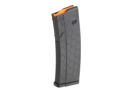 The Hexmag 30 round magazine is made from black polymer