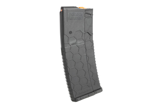 The Hexmag 5.56 magazine features a bright orange follower