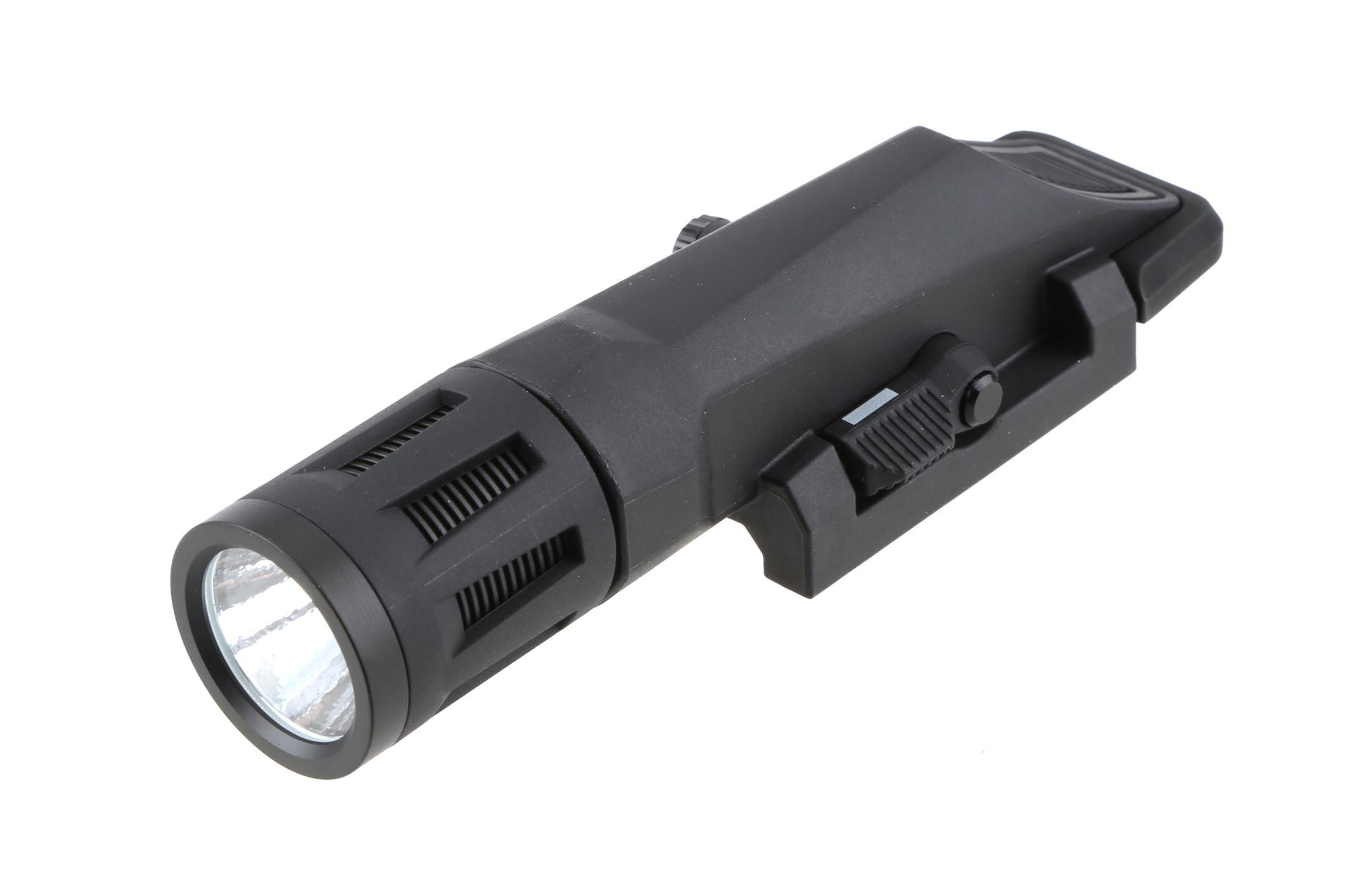 This Inforce gun light features multiple light modes like momentary, strobe, and continuous