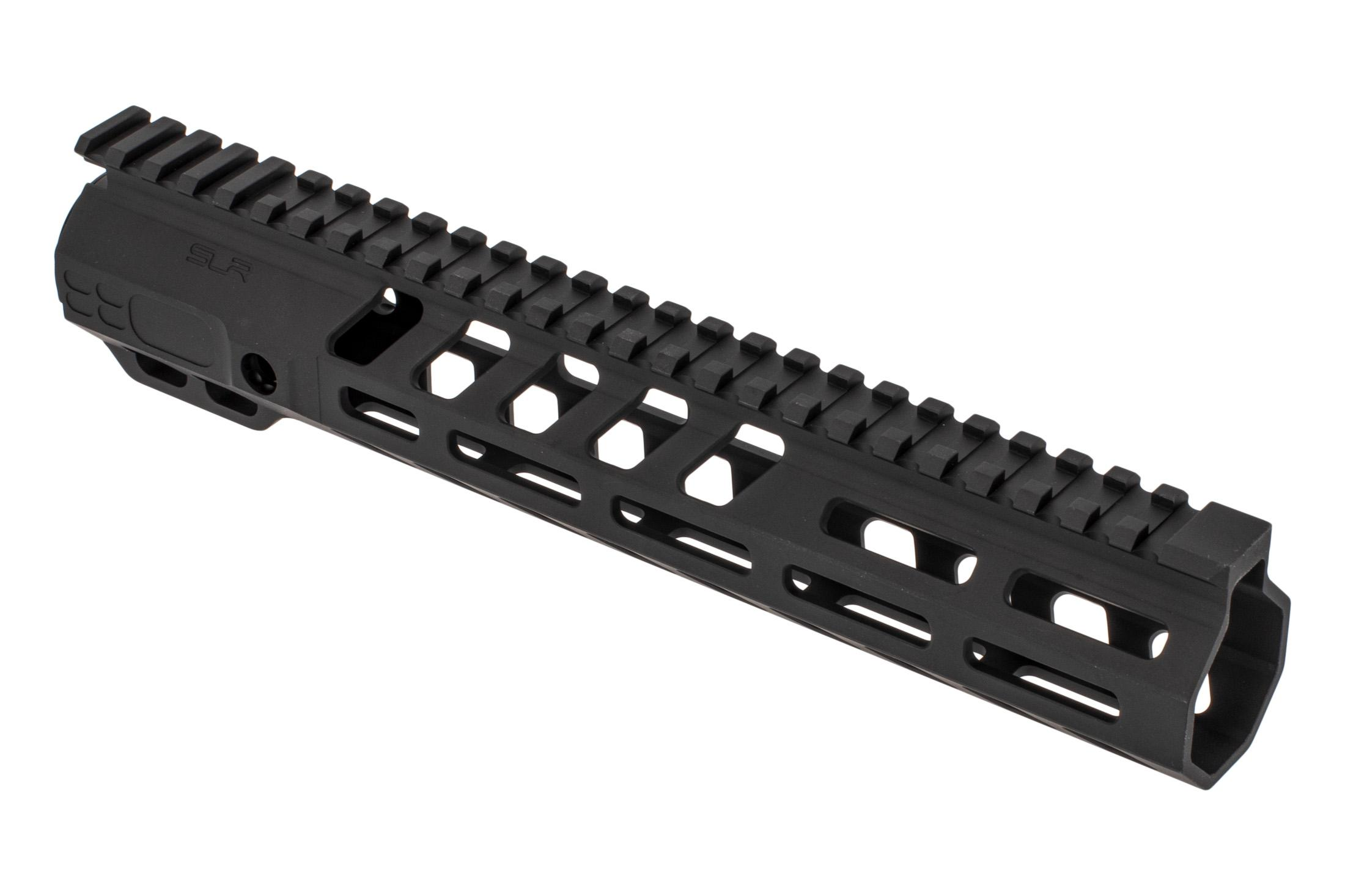 SLR Rifleworks Ion HDX series 10.7 M-LOK rail for the AR-15 with full length top rail with black anodized finish.
