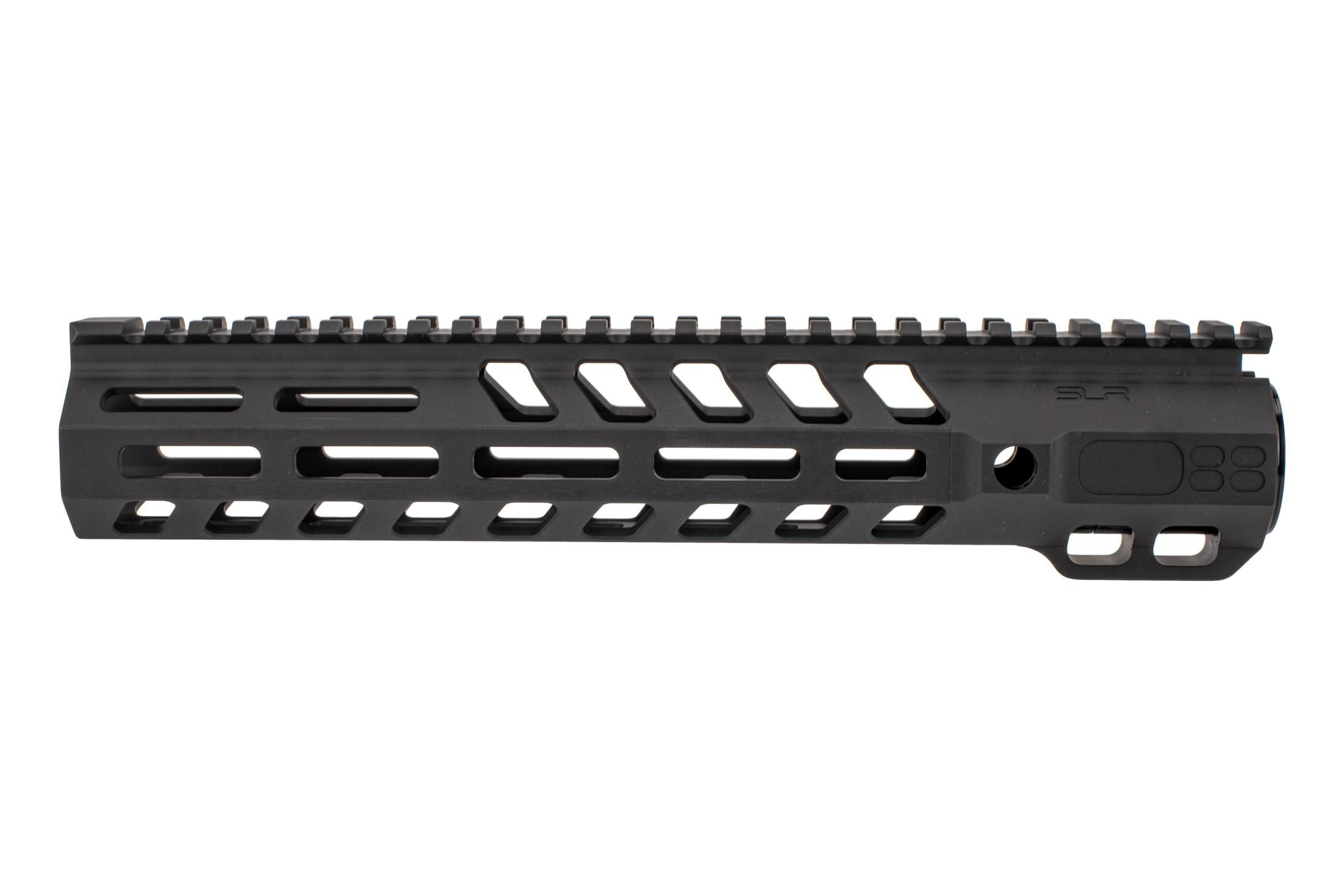 SLR Rifleworks M-LOK Ion Heavy Duty rail is 10.7 for AR15 with black anodized finish and full length top rail