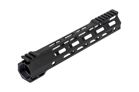The SLR Ion Ultra Light M-Lok handguard features a free float design to increase accuracy potential