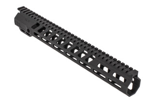 "SLR Rifleworks Ion HDX series 13.7"" M-LOK rail for the AR-15 with full length top rail with black anodized finish."