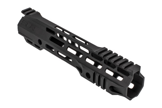"SLR Rifleworks Ion Hybrid series 9.5"" M-LOK rail for the AR-15 with interrupted top rail with black anodized finish."