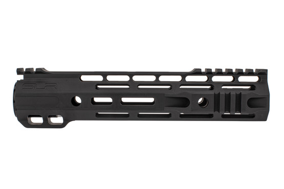 "SLR Rifleworks 9.5"" Ion Hybrid AR-15 handguard with interrupted top rail features M-LOK on four sides and a black finish"
