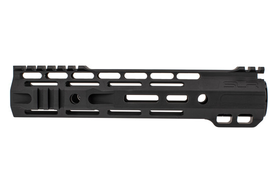 "SLR Rifleworks M-LOK Ion Hybrid Duty rail is 9.5"" for AR15 with black anodized finish and interrupted top rail"