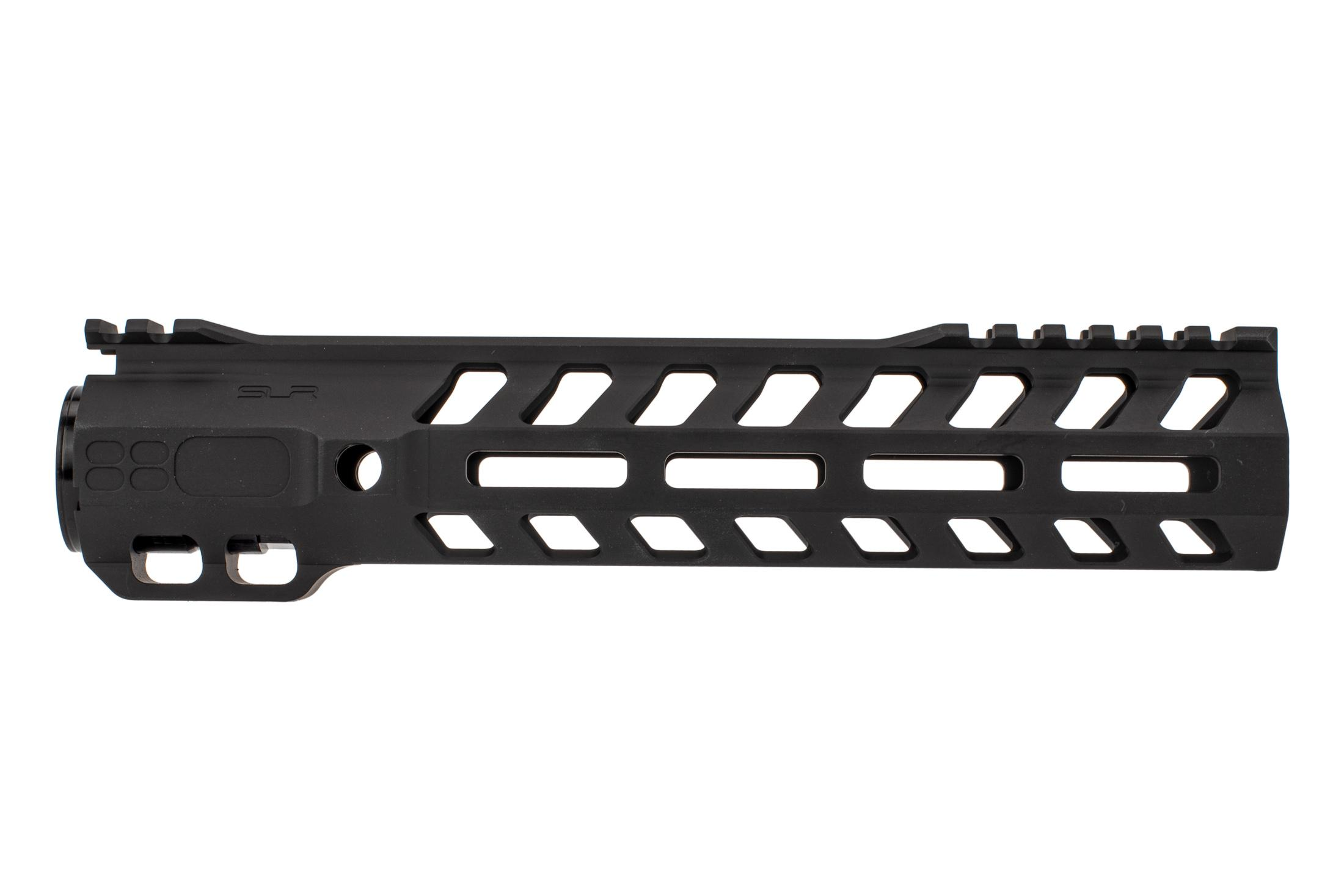 SLR Rifleworks 9.7 Ion HDX AR-15 handguard with interrupted top rail features M-LOK on four sides and a black finish