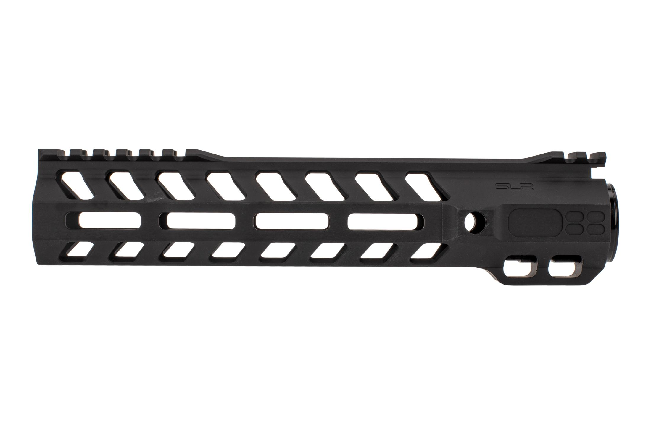 SLR Rifleworks M-LOK Ion Heavy Duty rail is 9.7 for AR15 with black anodized finish and interrupted top rail