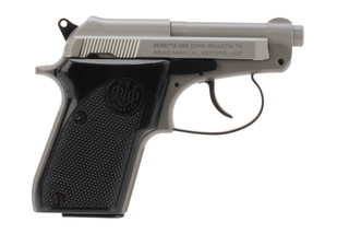 Beretta 21 Bobcat Inox 22lr pistol features a stainless steel finish