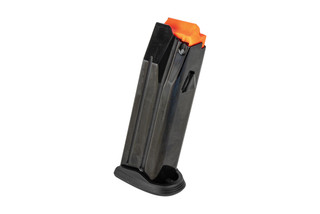 The Beretta APX 17 round magazine features a polymer red follower