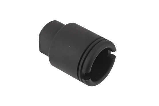 The KAK Industry micro slimline flash can is threaded 5/8x24 for .30 caliber barrels