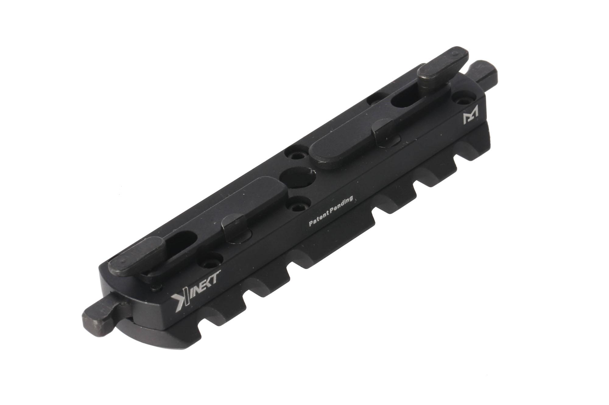 Kinetic Devlepment's Kinect Extended M-LOK swivel mount displaying quick detach system