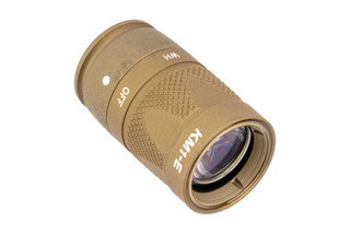 SureFire KM1 Scout Light Bezel in Tan features IR and white light illumination