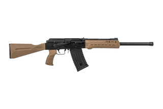 Kalashnikov USA KS12 Shotgun comes with a magazine that holds 5 rounds of 12 gauge