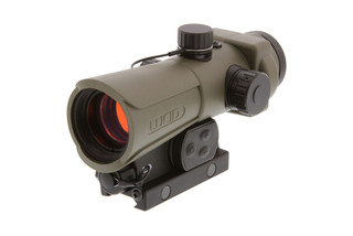The Lucid HD7 Red Dot Sight Gen 3 tan features a picatinny rail mount