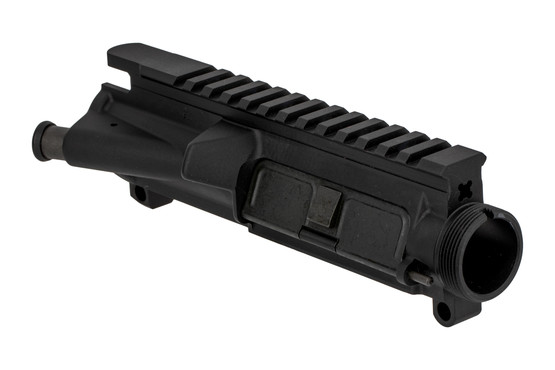 The Lewis Machine and Tool M4 flat top upper receiver assembly comes with forward assist and dust cover