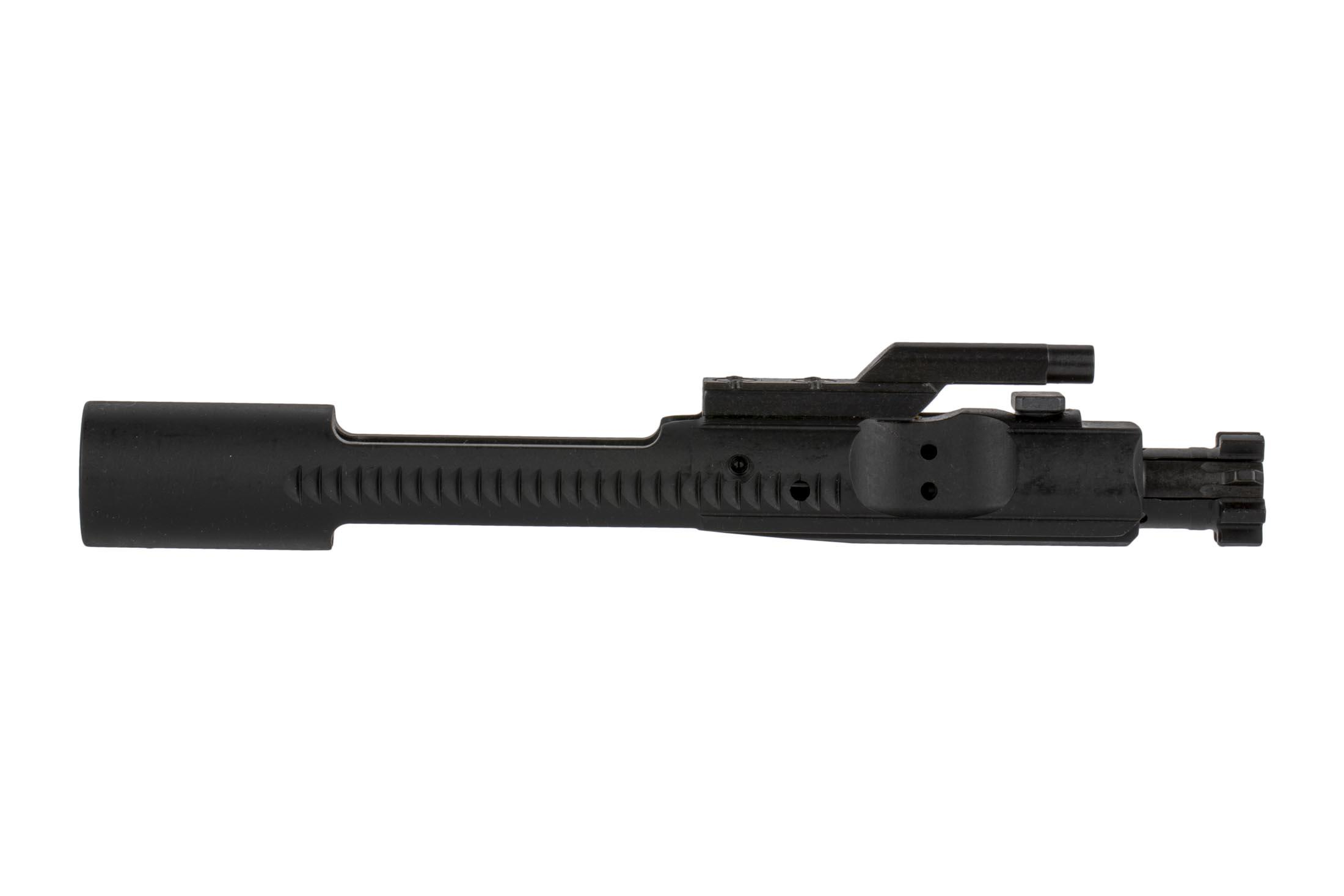 The LMT bolt carrier group for AR15 features a Manganese Phosphate finish