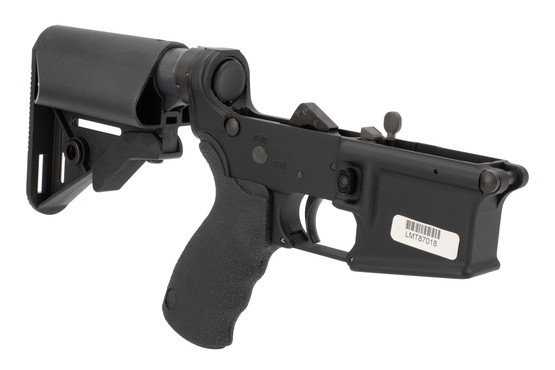 Lewis Machine and Tool Defender PDW AR-15 complete lower receiver features a single stage trigger
